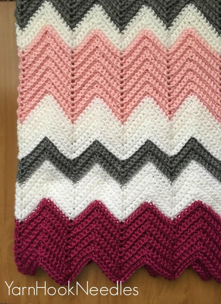 Modern Crochet Chevron Blanket With Free Pattern Yarnhookneedles