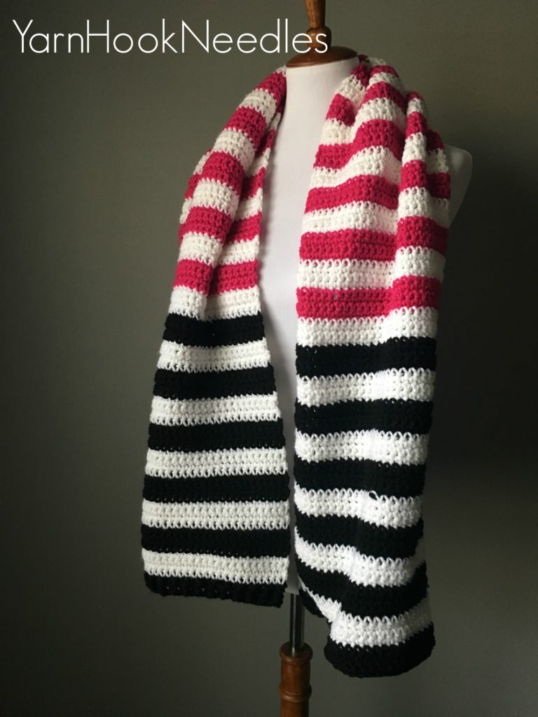 Color Block Scarf by Jerica @ Yarn Hook Needles