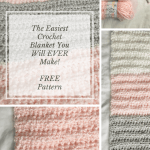 The Easiest Crochet Blanket You Will Ever Make with a FREE Pattern! – YarnHookNeedles