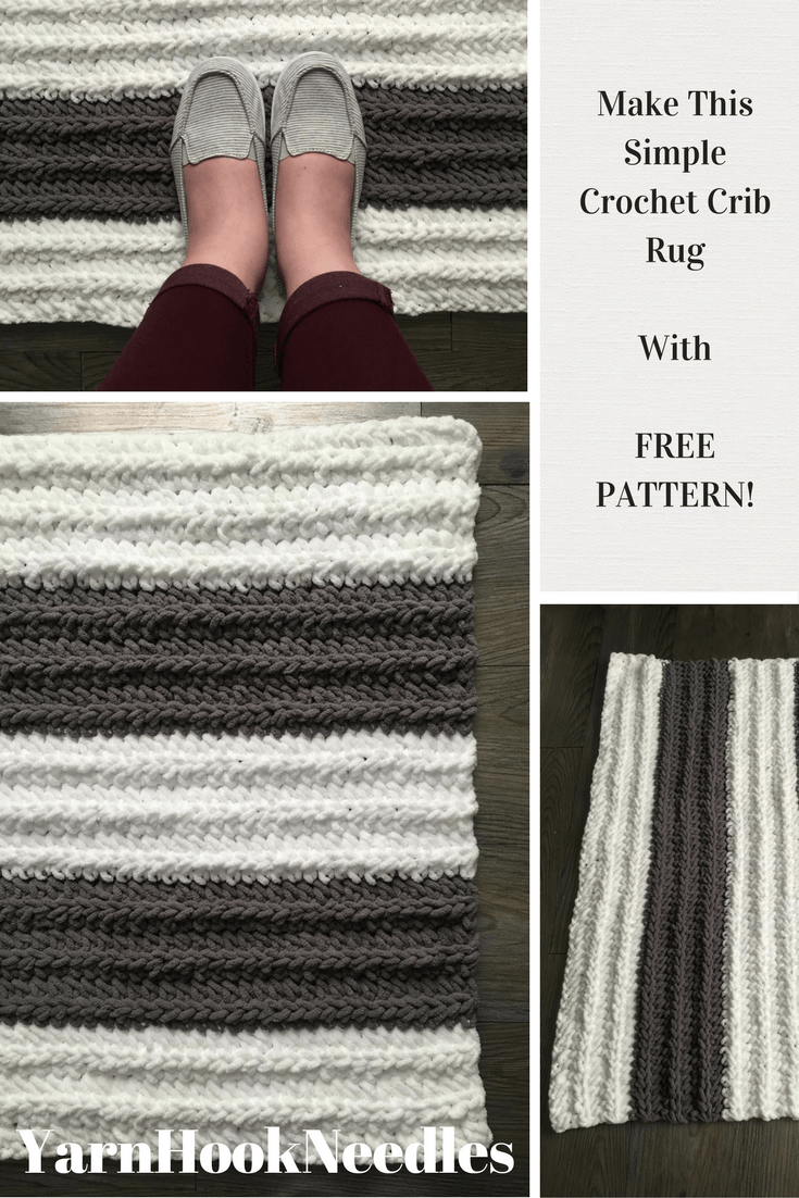 An easy crochet crib rug for your newborns nursery with free an easy crochet crib rug for your newborns nursery with free pattern yarnhookneedles bankloansurffo Choice Image
