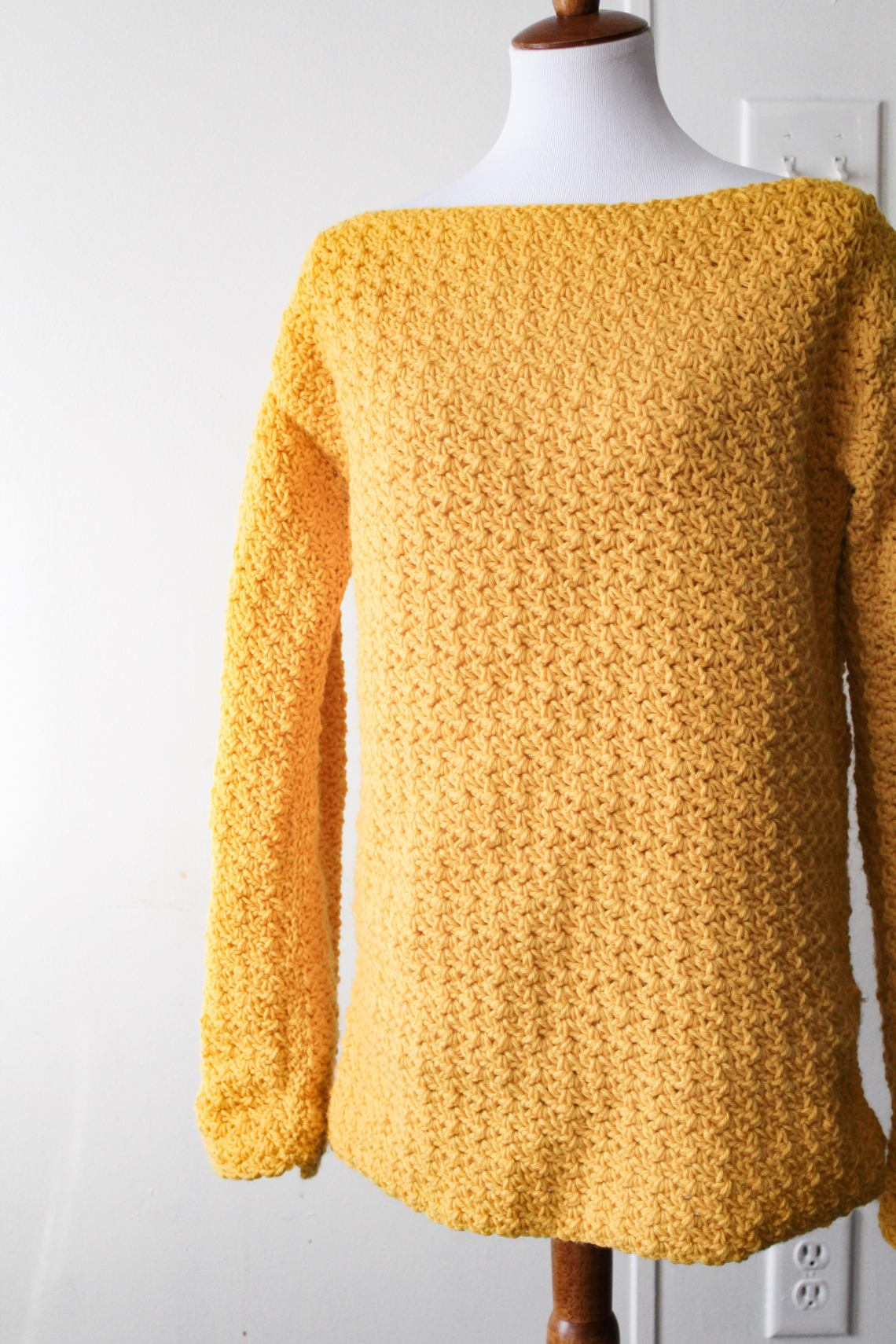 c8cf8af11e The Easiest Pullover Crochet Sweater You ll Ever Make!