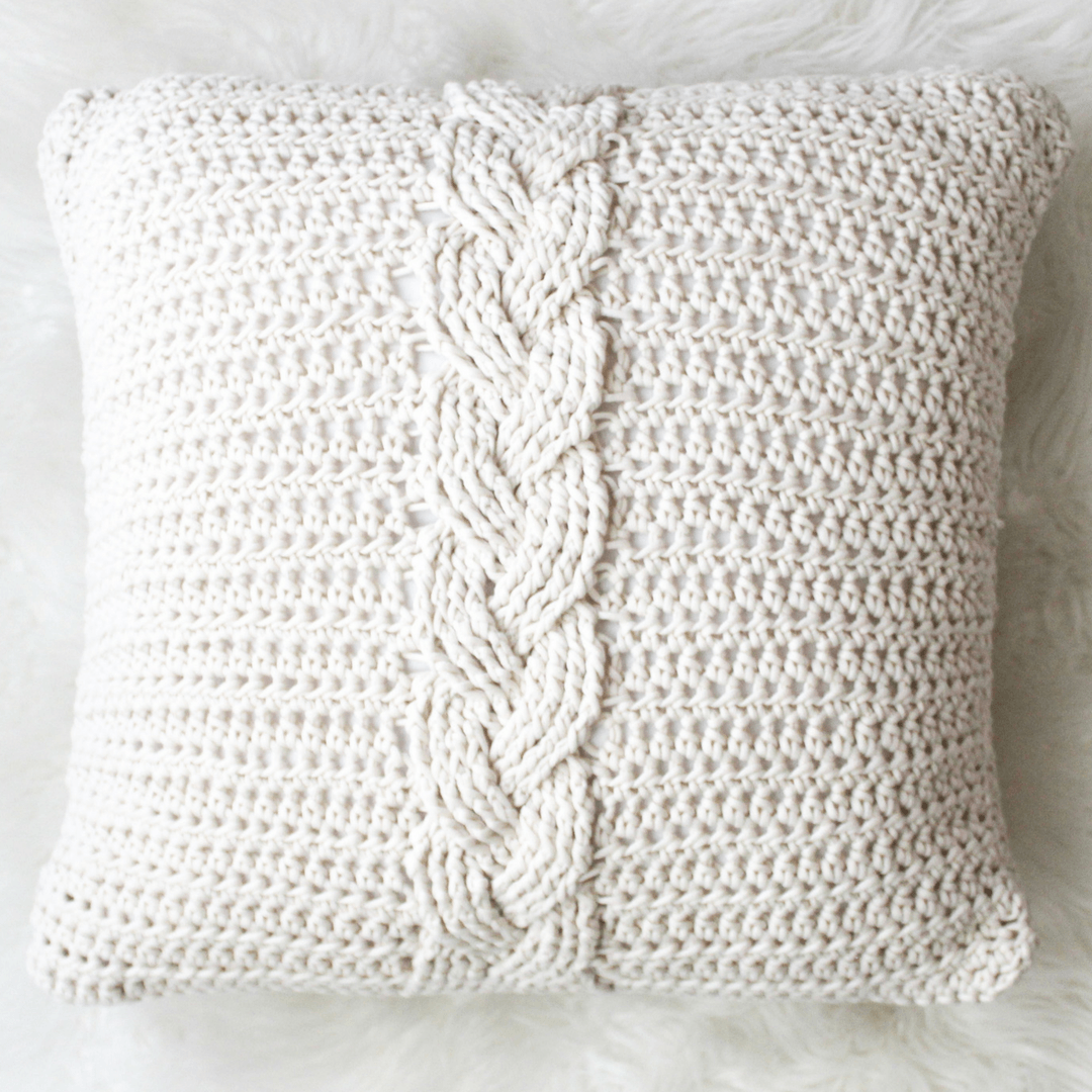 The Easiest Crochet Cable Pillow You Will Ever Make Yarnhookneedles