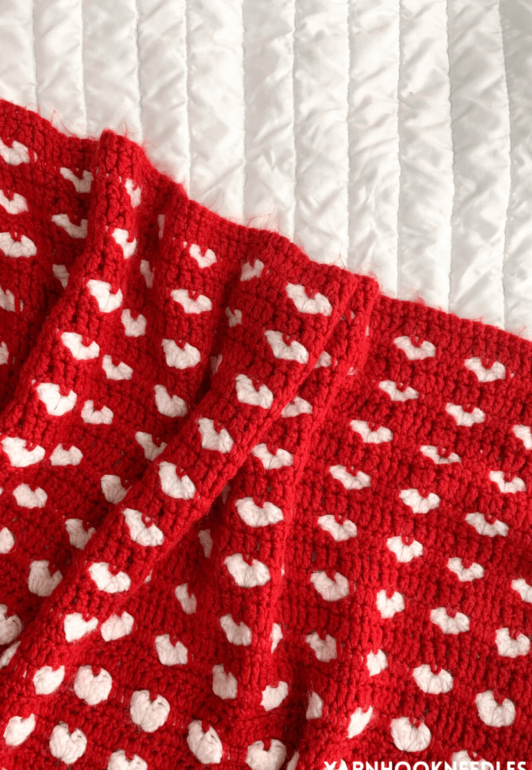 How to Make This Crochet Heart Blanket!