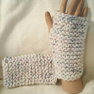 Winter White Fingerless Mitts