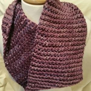 Lavender Knit Cowl