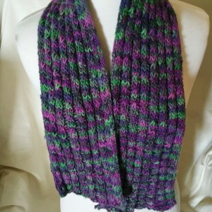 Purple And Green Variegated Scarfette