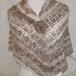 Cappuccino Crochet Shawl