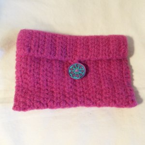 Magenta Felted Wallet