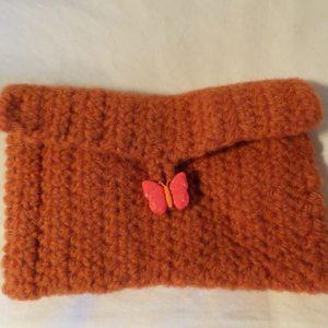 Pumpkin Felted Wallet (envelope)