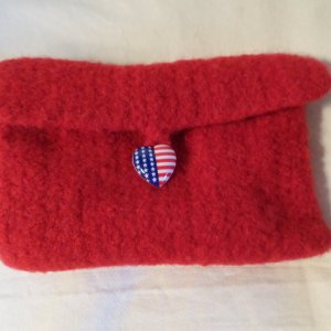Red Felted Wallet (envelope)