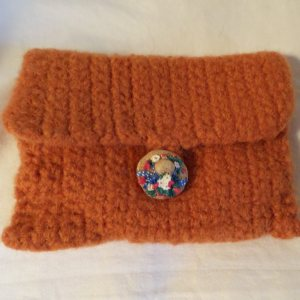Russet Felted Wallet (envelope)