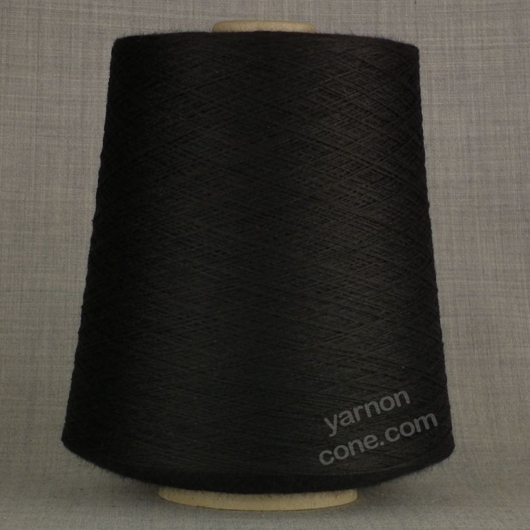 black 100% pure merino wool 2/30s laceweight cobweb fine machine knit yarn on cone