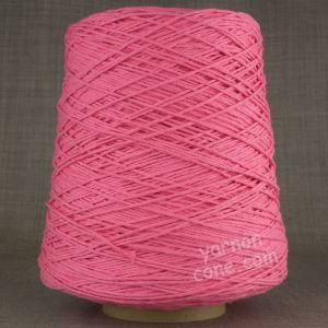 Double knitting DK soft pure cotton yarn on cone hand machine knitting weaving crochet bubblegum candy pink