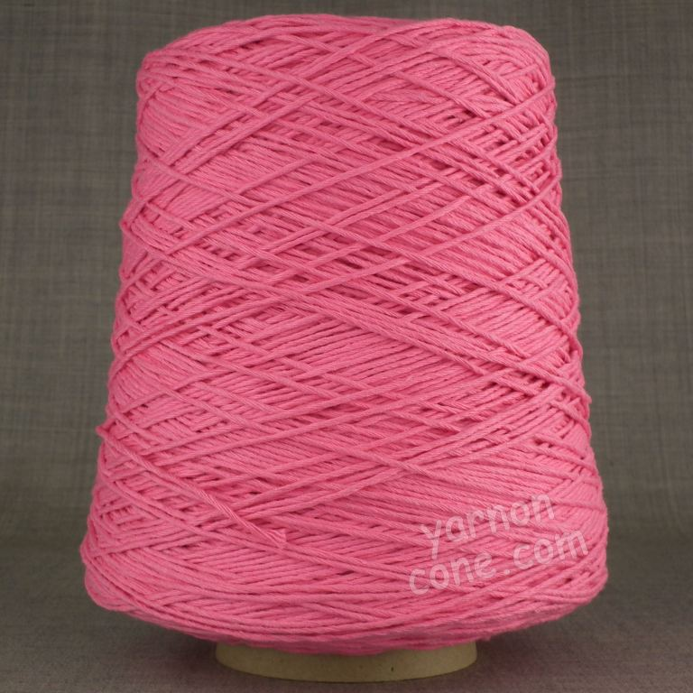 Double knitting DK soft pure cotton yarn on cone hand machine knitting weaving crochet bubblegum candy pink