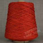 Double knitting DK soft pure cotton yarn on cone hand machine knitting weaving crochet rust orange red