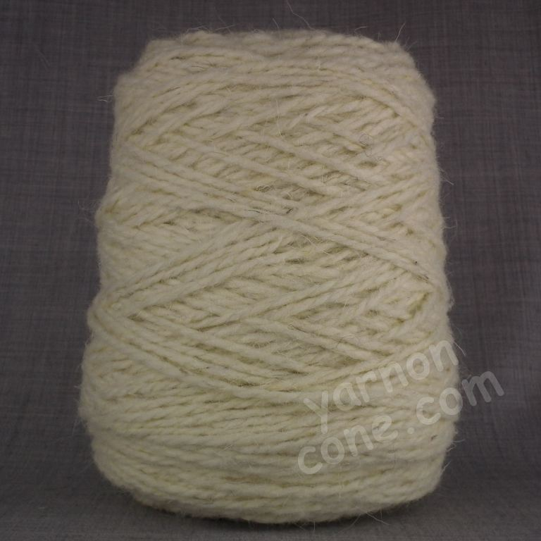 Berber rug making thick carpet yarn weaving latch hook thick ecru cream wool cone BB17