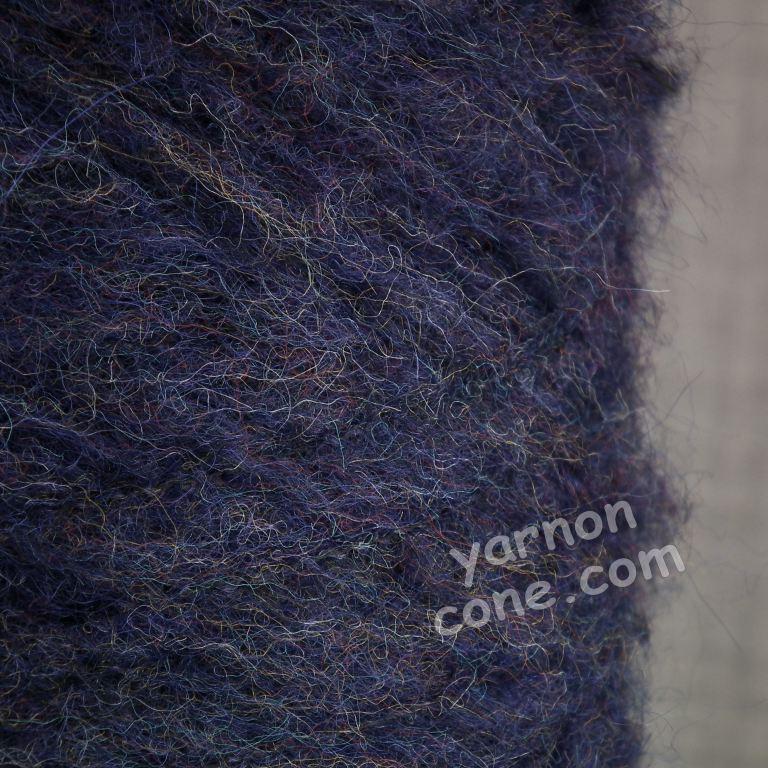 mohair wool viscose blend 4 ply yarn on cone soft fluffy warm hand machine knitting uk indigo blue melange