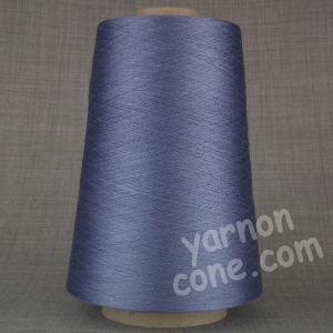 Pure silk cobweb yarn 2/120 NM italian 2/120NM on cone weaving knitting blue steel