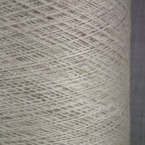 Viscose cotton blend yarn undyed ecru weaving twist yarn on cone warp weft rustic style texture uk supplier