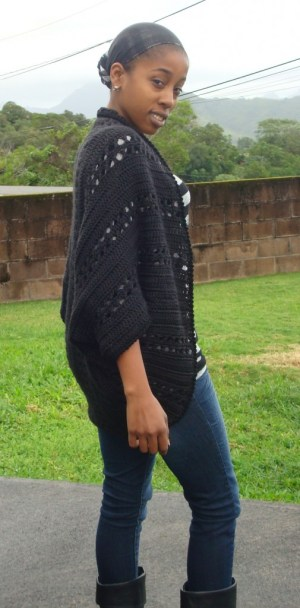 Deanne Young's Crochet XStitch Shrug | Yarn Over, Pull Through