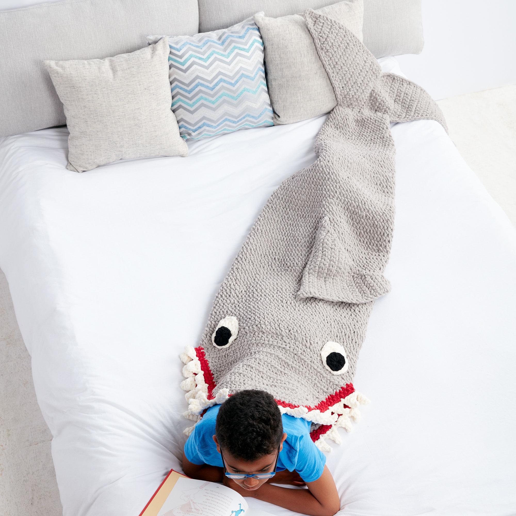 Bernat Fin-tastic Shark Snuggle Sack