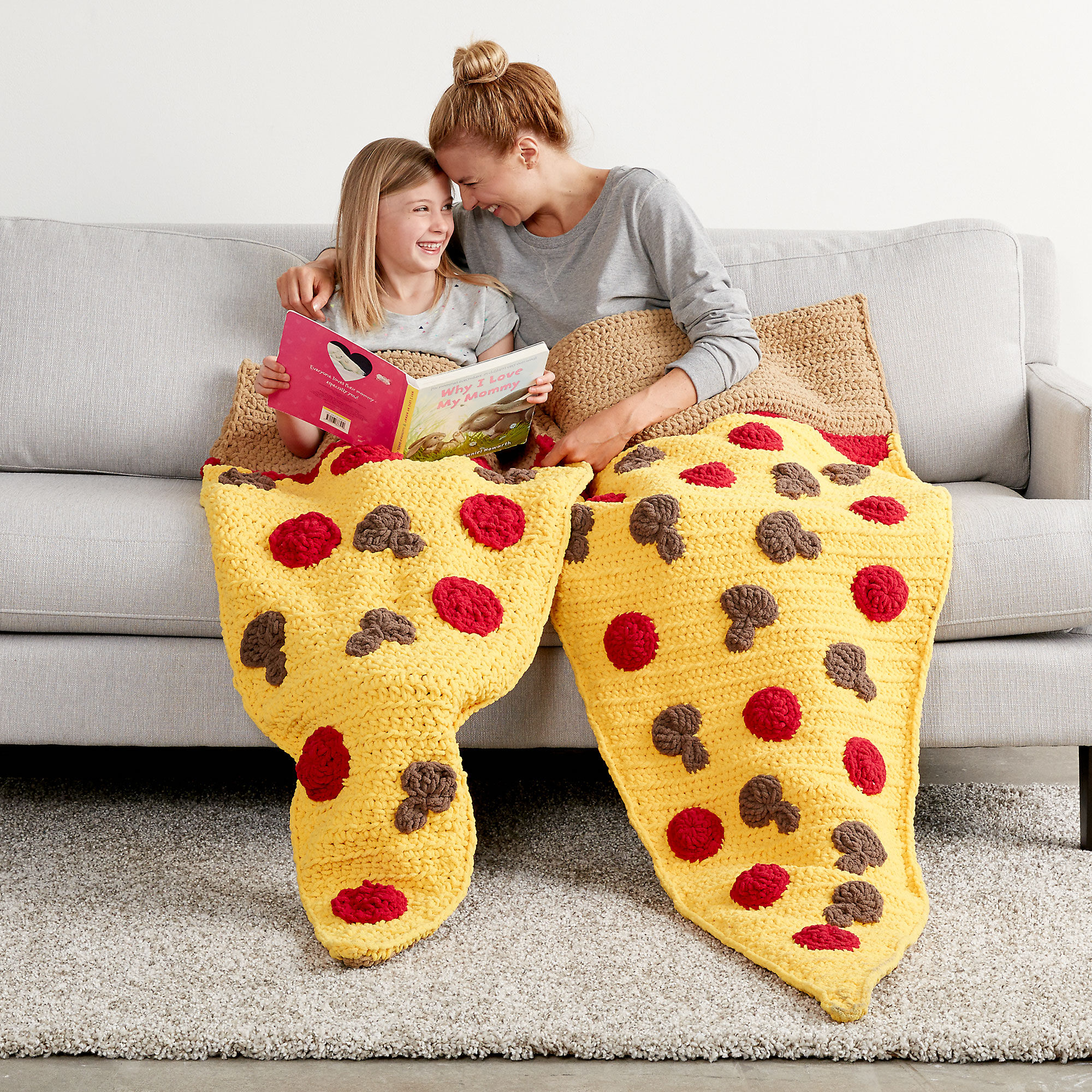 Bernat Pizza Party Crochet Snuggle Sack, Adult