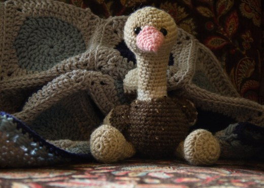 Oscar the Ostrich Amigurumi Animal - Featured Image