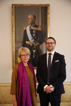 İstanbul İsveç Başkonsolosu Therese Hydén ve İsveç Türkiye Ticaret Baş Müşaviri Erik Friberg.