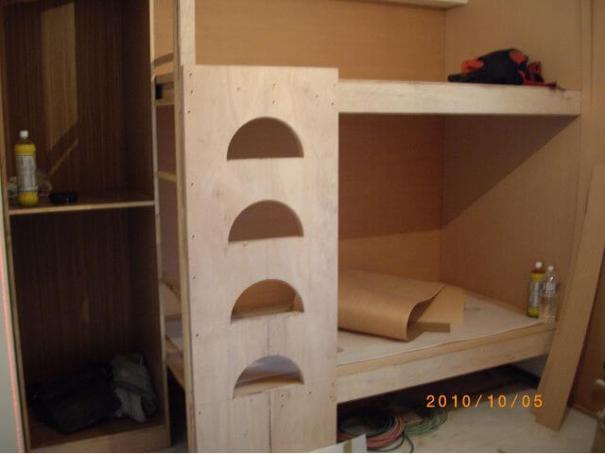 木工裝潢-木作雙 人床