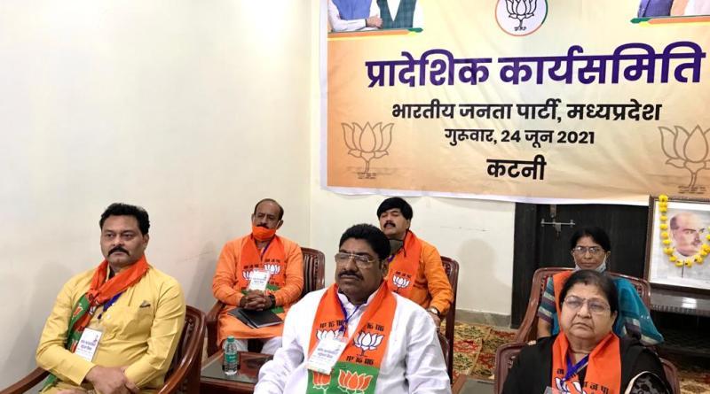 भाजपा प्रदेश कार्यसमिति की बैठक में कटनी से जुड़े कार्यसमिति सदस्य, देखें वर्चुअल मीटिंग की फोटो