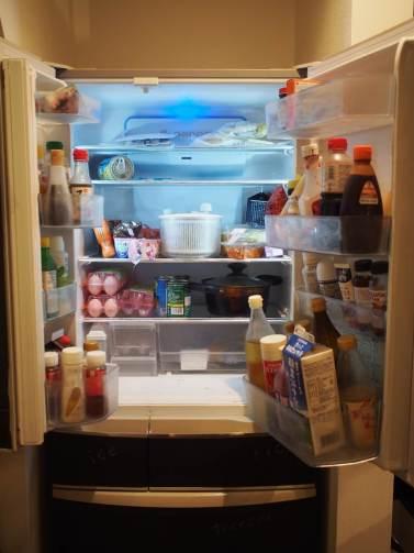 冷蔵庫片付けbefore