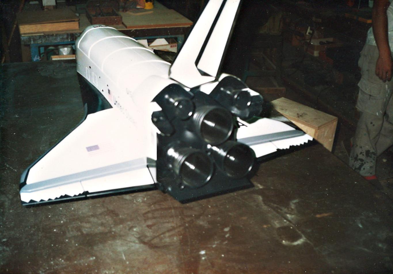 スペースシャトルのモックアップ