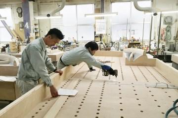 大きな木型を収めるための木枠