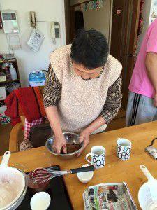 20150218ご利用者様達とチョコレートクッキー作りをしました。2