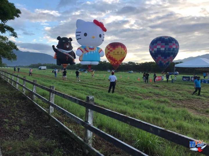 首波台東限定熱氣球繫留體驗HELLO KITTY及喔熊熱氣球驚艷池上 不用人擠人民眾大呼歷年最暢快 @YA !野旅行-吃喝玩樂全都錄