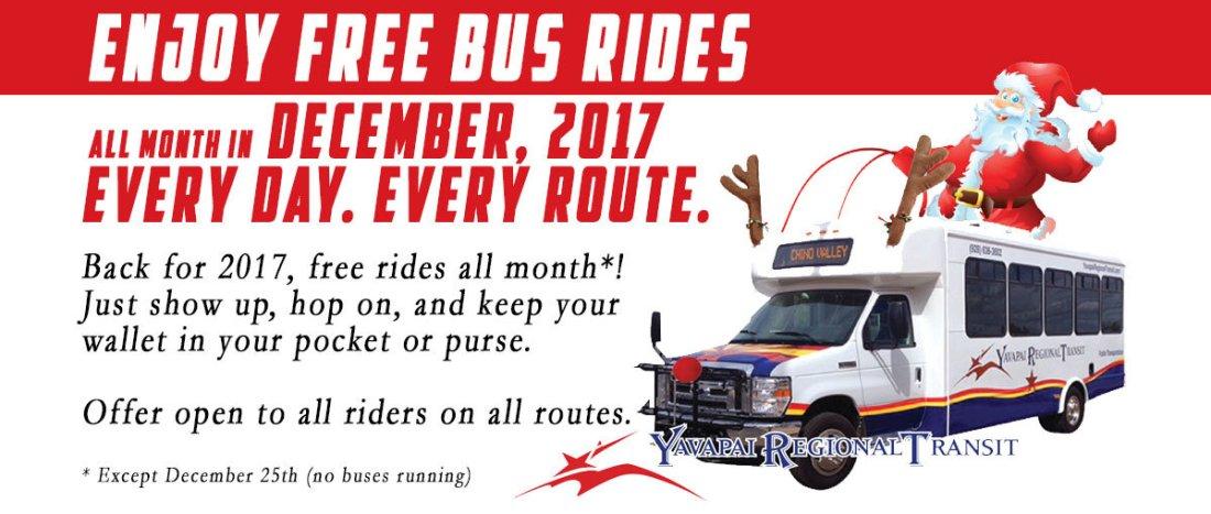 Free rides in December