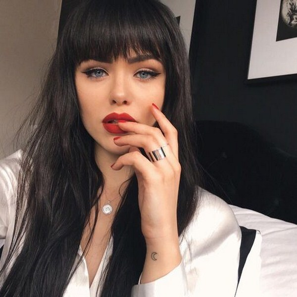 casual style of fashionable haircuts for medium hair with bangs