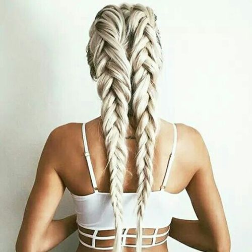 Fashion braids new hairstyle for girls