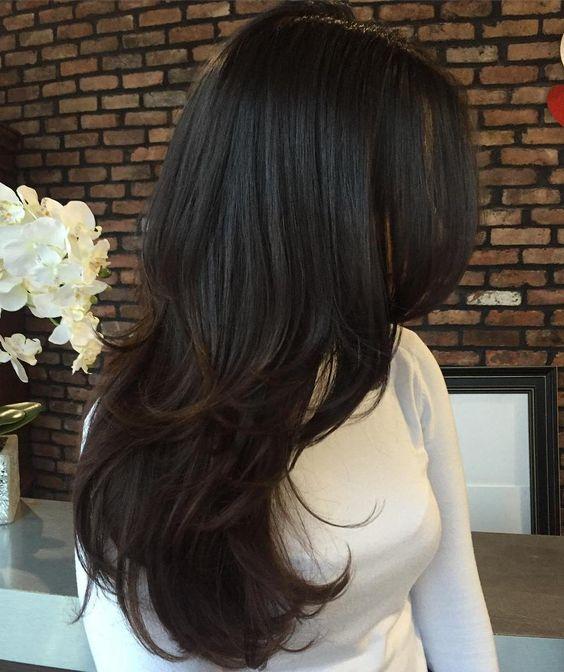 long haircut cascade