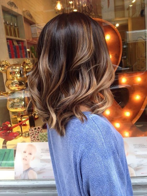 Beautiful festive hairstyle styling with medium hair for 40 years