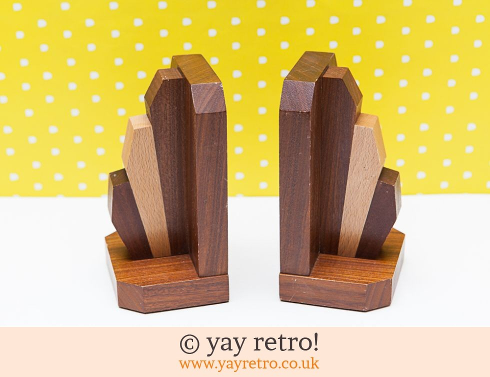Art Deco Wooden Bookends Buy Yay Retro Handmade Crochet