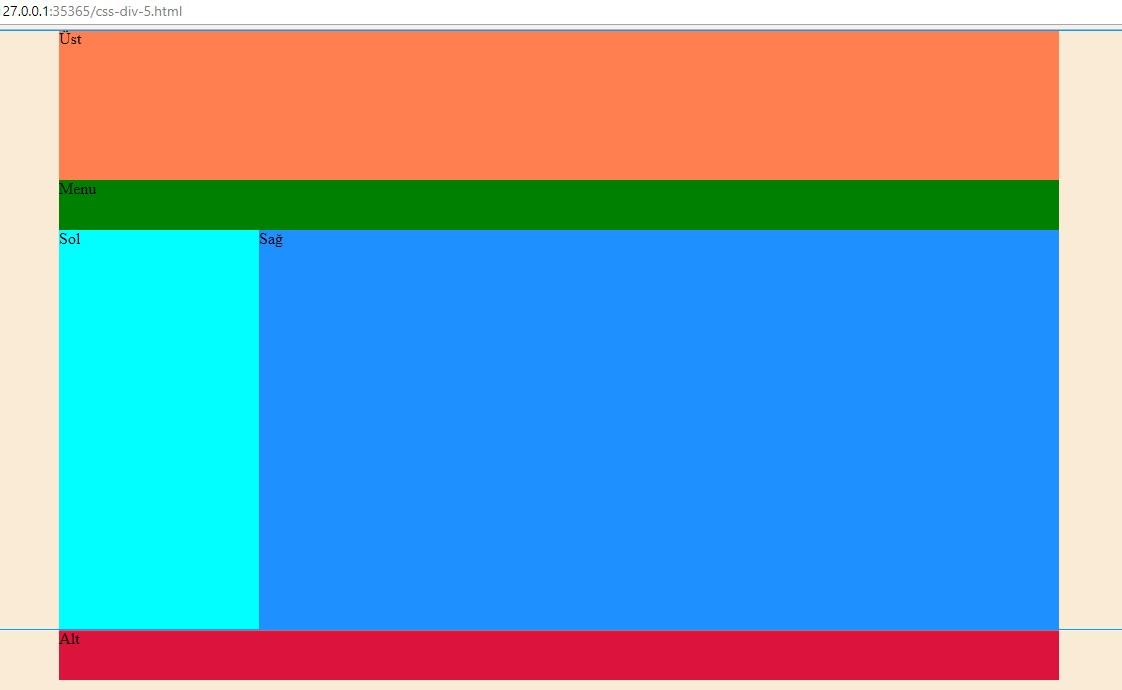 Css div kullan m rnekleri 5 web tasar m programlama - Html div class ...