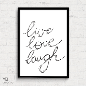 YBcreative LIVE-LOVE-LAUGH