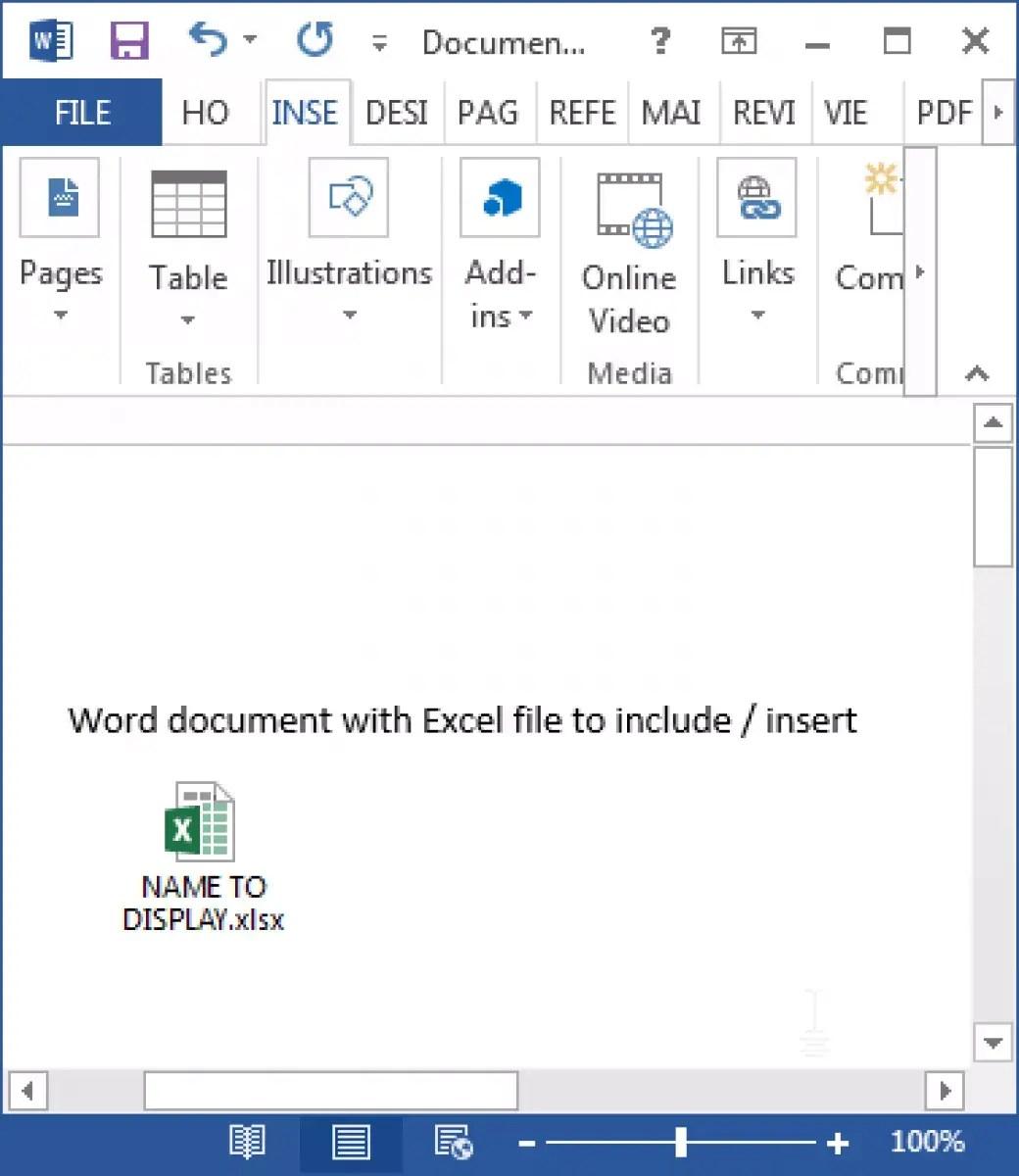 Voeg Een Excel Bestand In Word In