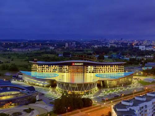 Best hotel to get free loyalty program reward nights in Minsk : Minsk Marriott Hotel
