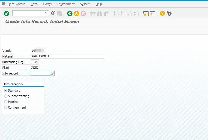 Purchase Info Record in SAP MM S4HANA