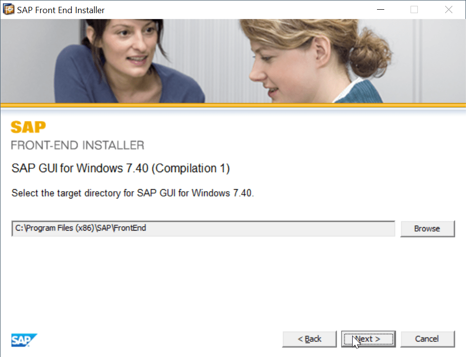 SAP GUI installation steps 740