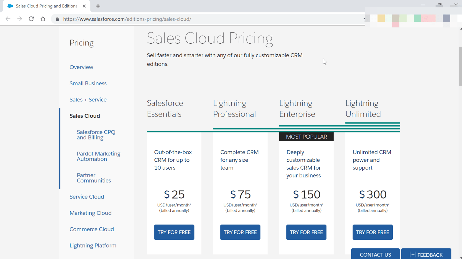 How much does a SalesForce license cost?