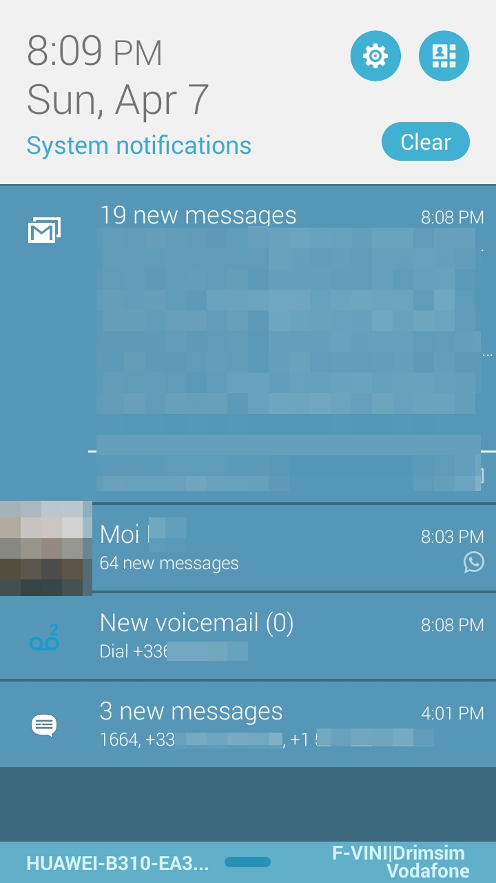 How to get rid of voicemail notification icon on Android?