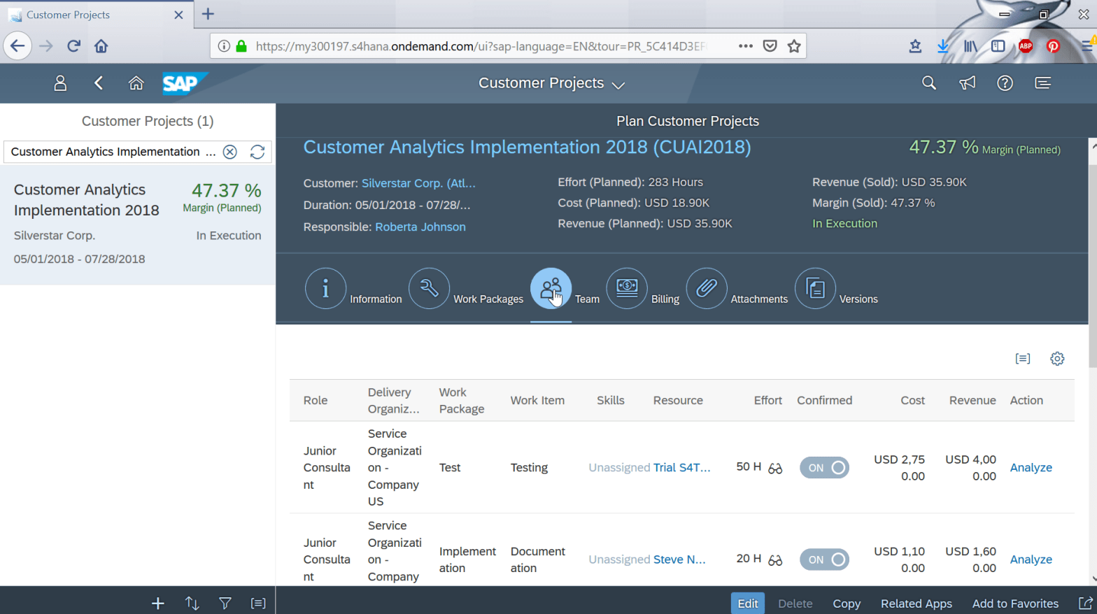 How to analyze a customer project in SAP Cloud?